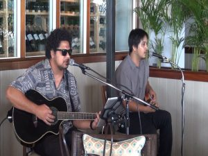 Live music during Mother's Day brunch at Merriman's Kapalua on May 9, 2016. Photo by Kiaora Bohlool.