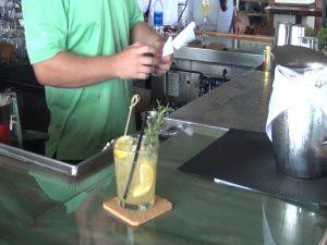 "Lemon-honey scotch cocktail, a ""Daily Muddle"" at at Merriman's Kapalua. Photo by Kiaora Bohlool."