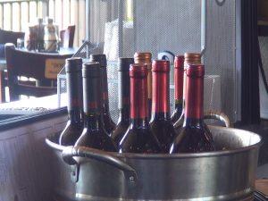 Wine at Manoli's bar in Wailea. Photo by Kiaora Bohlool.