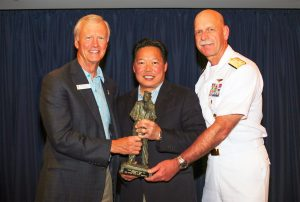 Peter Ho Receives Naval Award. Courtesy photo.