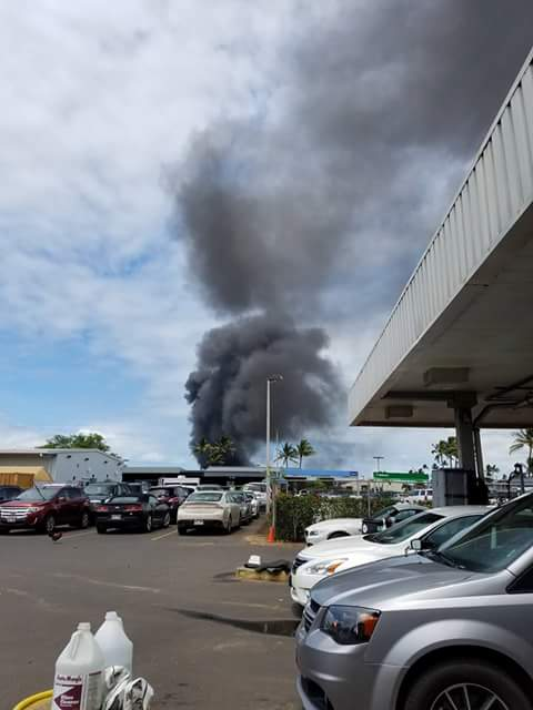 Live fire training at Kahului Airport. 5.11.16. Photo credit: Ray Hagston.