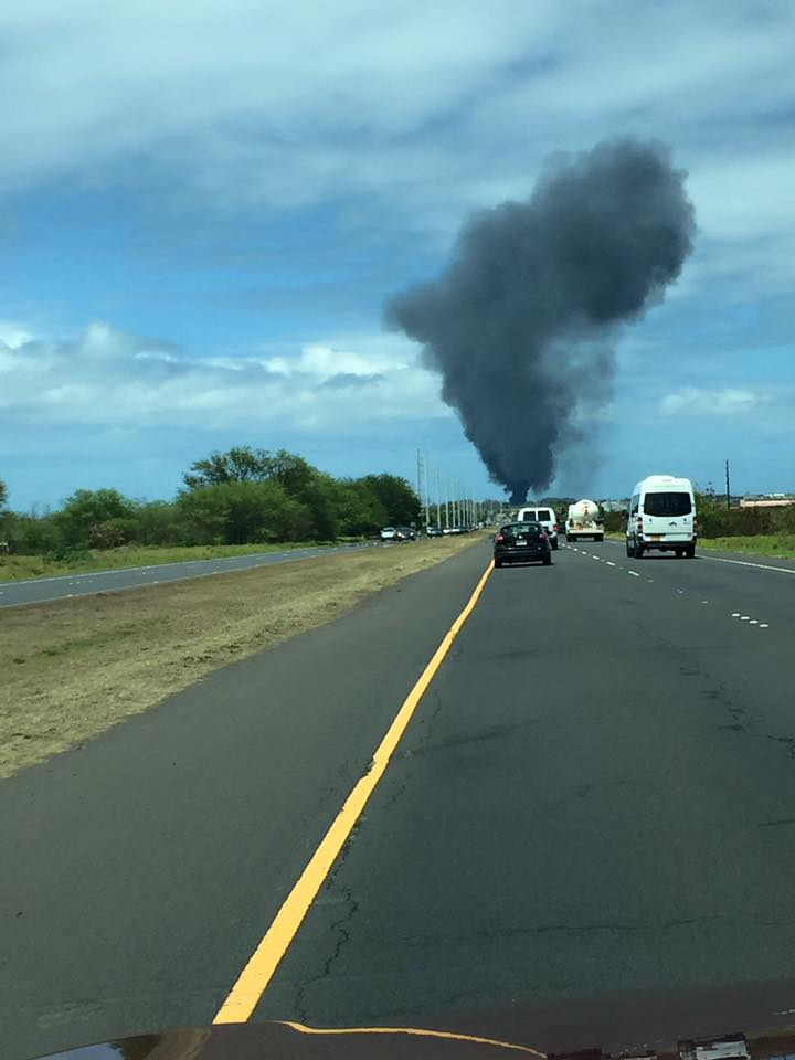 Live fire training at Kahului Airport. 5.11.16. Photo credit: Judy Epstein.