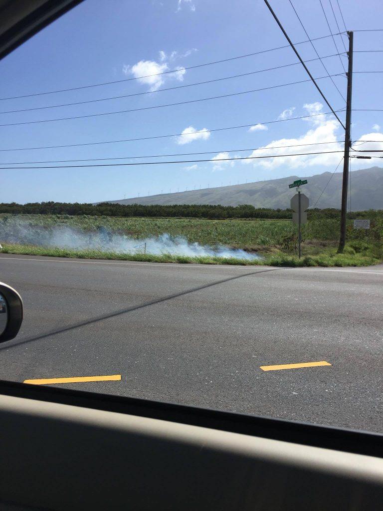 Mokulele Highway fire (5.20.16) Photo credit: Timothy Lara.