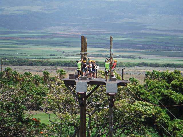 Ziplining in Maui
