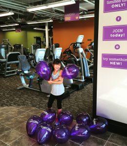 Anytime Fitness Wailuku's Alyssa Wong greets members. Anytime Fitness photo