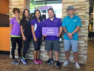 Anytime Fitness Wailuku: (from left) Jean Sevilla, Jen Tom, Carlene DeCoite, Owner Kurt Higa, Jon Sato. Anytime Fitness photo