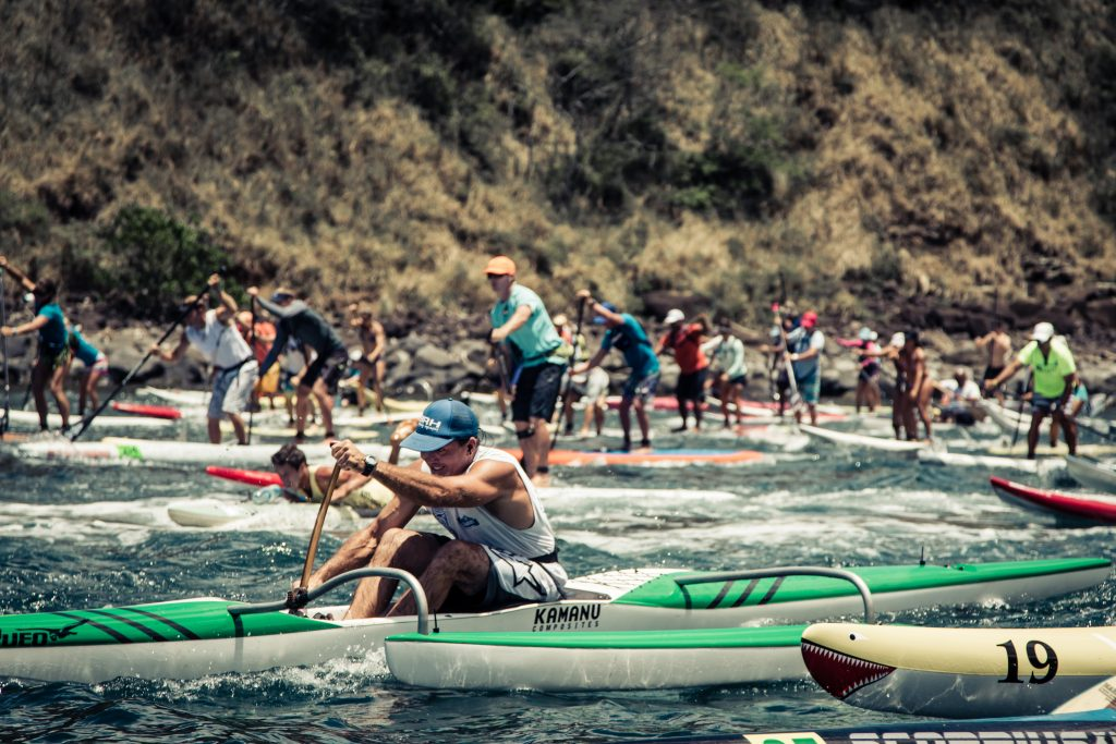Bluesmiths Paddle Imua Maliko Start. File photo courtesy of Bluesmiths Crafted Waterwear.