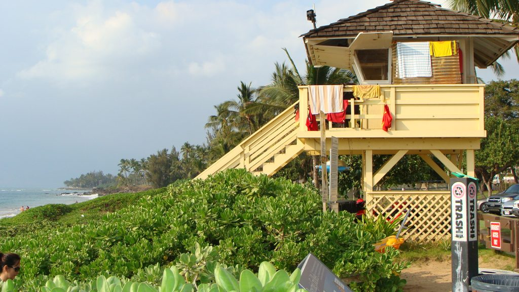 Maui lifeguard tower. File photo by Wendy Osher.