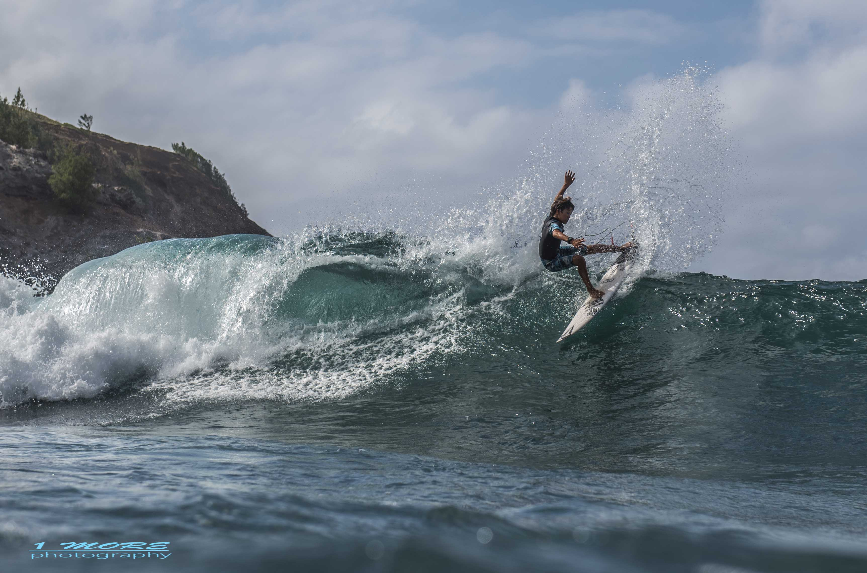 Jackson surfing close to home Photo: 1morephotography