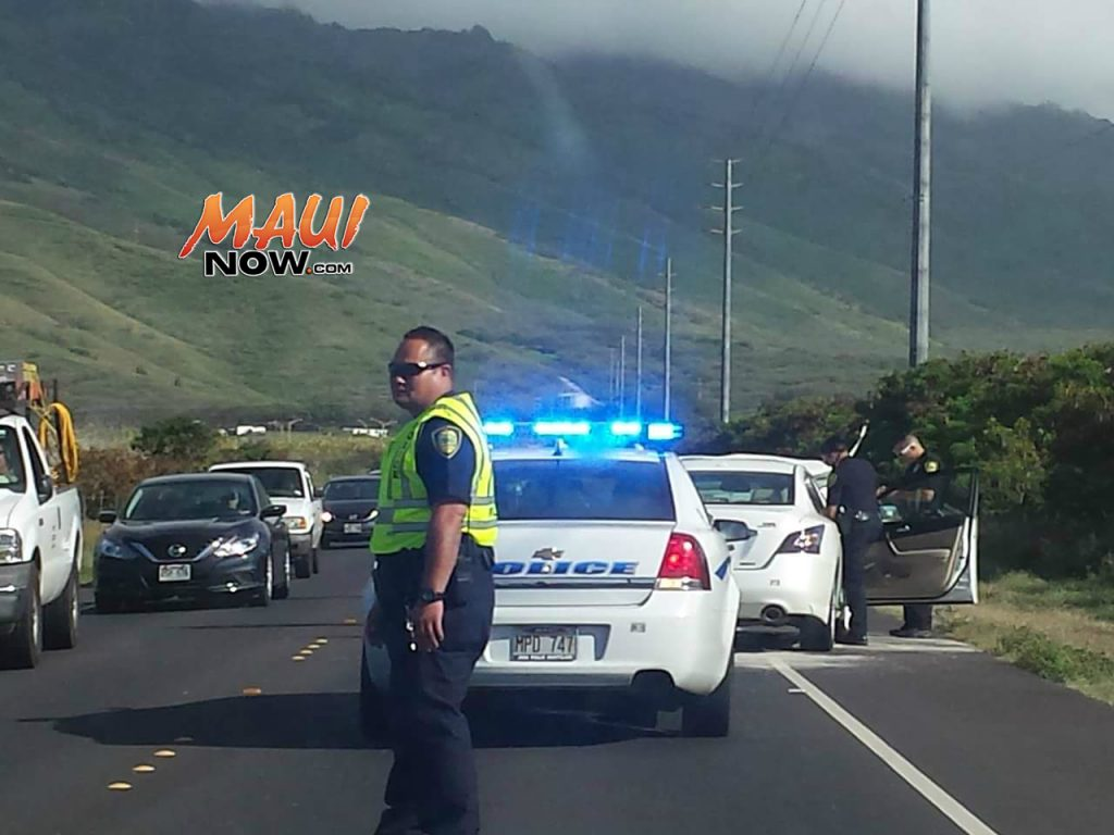 North Kīhei Road accident (5.20.2016) Photo credit: Peter Hume