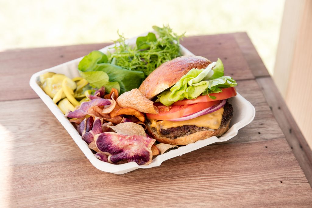 Fresh offerings from the Hāna Burger food truck. Courtesy photo.