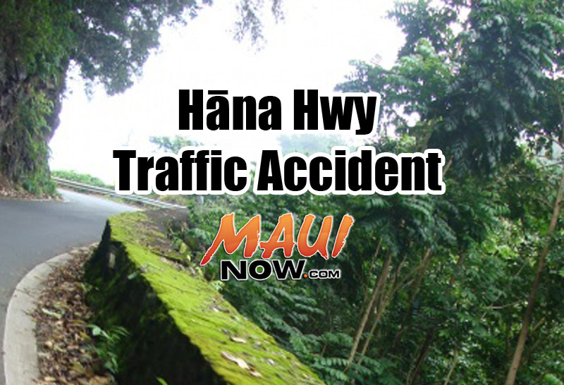 Hāna Highway traffic accident. Maui Now graphic.