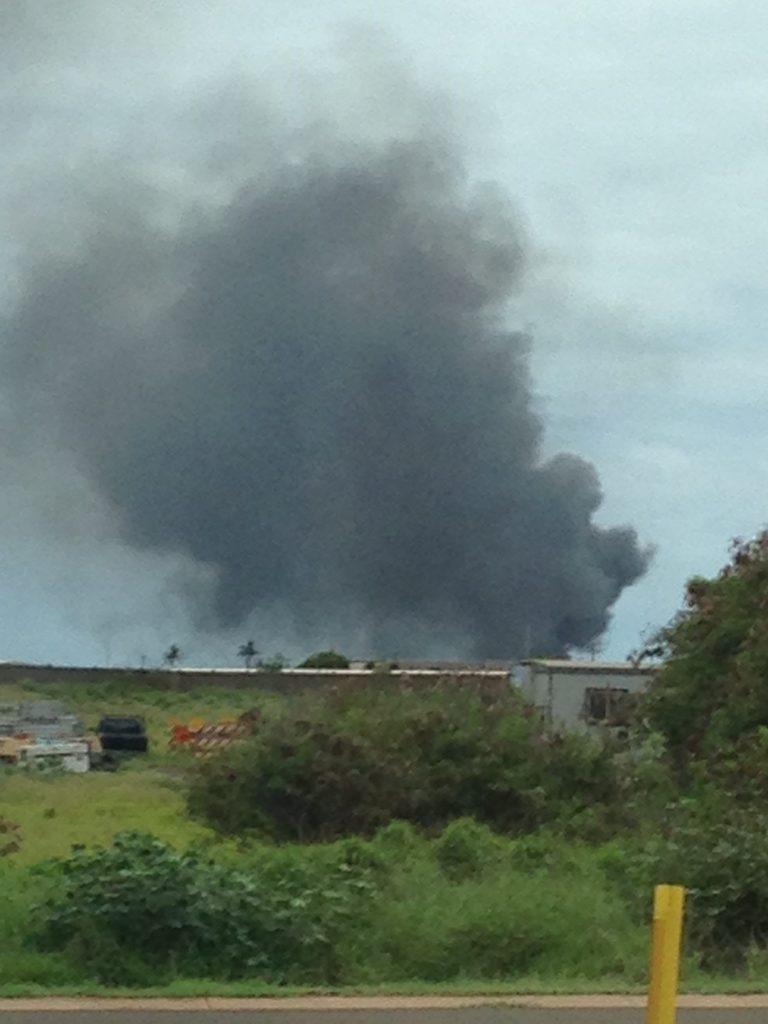Live fire training at Kahului Airport. 5.11.16. Photo credit: Kathleen Davis.