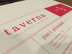Menu at Taverna in Kapalua Resort, among the restaurants that will offer the RSVP discount. Courtesy photo.