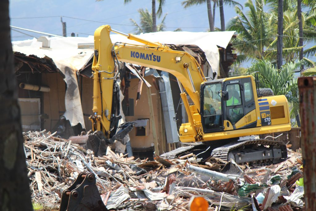 Old Kahului Store being demolished (5.3.16). Photo by Wendy Osher.