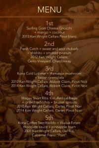 Ken Wright Cellars Wine Dinner at Ka'ana Kitchen, Andaz Maui on Sat. May 28. Courtesy image.