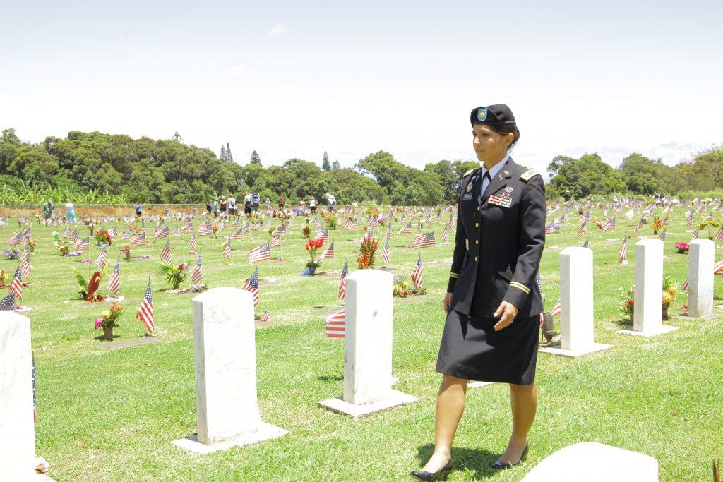 Rep. Tulsi Gabbard Honors Fallen Warriors at Makawao Veterans Cemetery Memorial Day Service. Courtesy photo.
