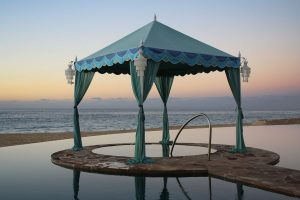 Raj Beach Chic tent. EventAccent photo.