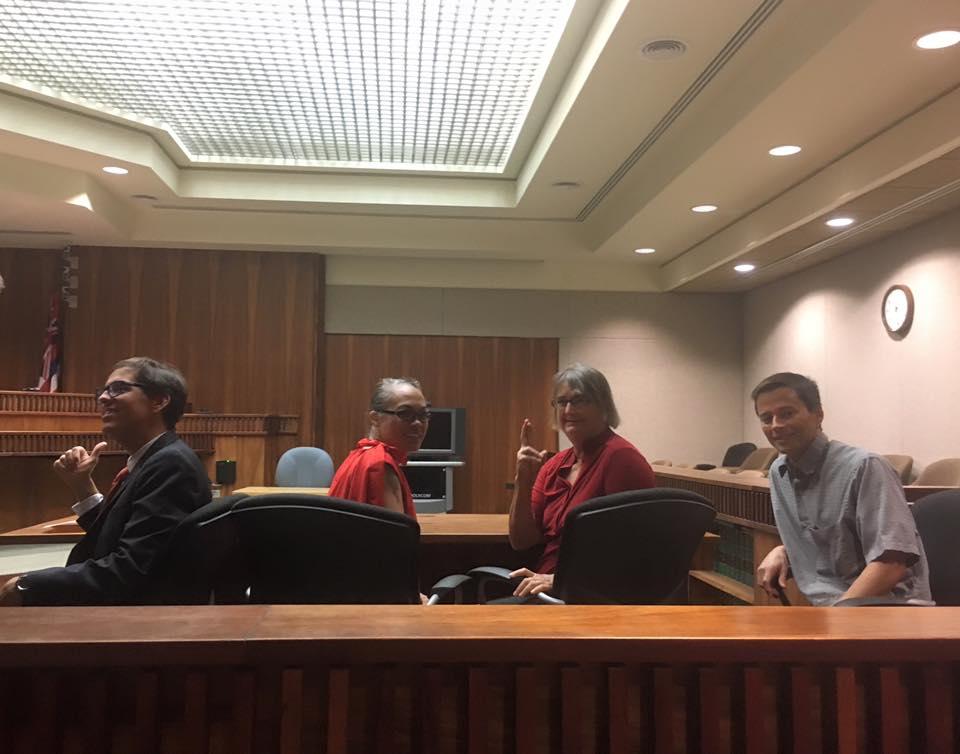 Photo of Lance Collins, Trinette Furtado, Karen Chun and Brad Edwards. Photo credit: Tina Wildberger