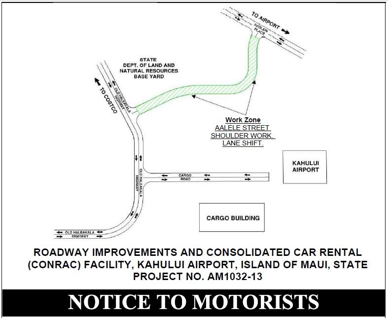 Aʻalele road work notice.