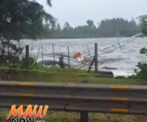 Hana Bay wreckage. Image credit: Kapena Kalama.