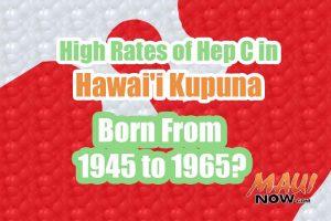 High Rates of Hep C in Hawaiʻi's Kupuna. Maui Now graphic.