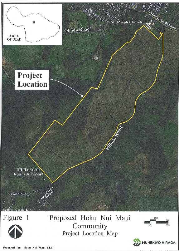 Hoku Maui Nui project location map. Image courtesy Munekiyo Hiraga, Draft EA.
