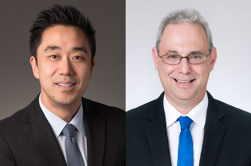 Ray Hahn (left) and David Ulin, MD (right) will oversee care delivery operations at all three hospitals in addition to designing strategies for quality and safety improvements and managing hospital and medical staff affairs. Courtesy photos.