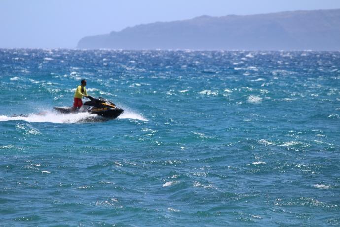 Maui lifeguard jet ski patrol. File photo by Wendy Osher.