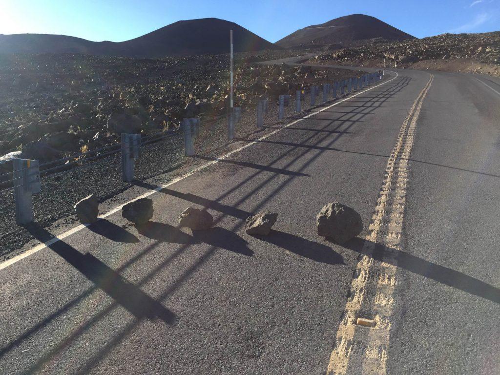 Rocks on Mauna Kea Access Road. Photo courtesy DLNR.