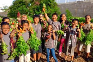 """Saladbration"" at Maui School Garden Network, one of the groups reaping the benefits of RSVP. Courtesy photo."