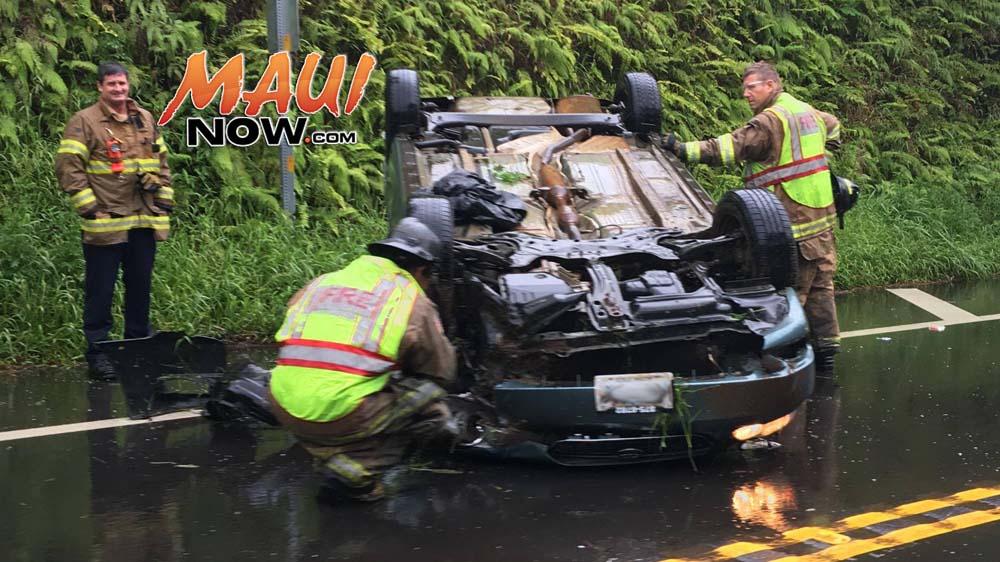 Twin Falls vehicle overturned, 5/31/16. Photo credit: Mark Michalak