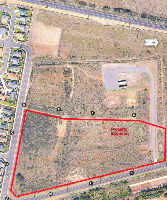 Waiʻale Affordable Housing project site aerial image. Image courtesy Bagoyo Development Consulting Group - Application for Affordable Housing Subdivision.