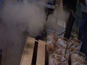 Dry ice adds to the allure of the dessert station at the Seafood Festival in Kapalua. Photo by Kiaora Bohlool.