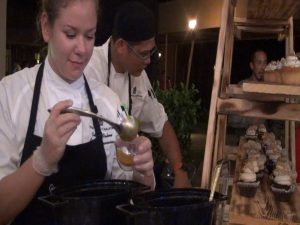 Chefs prepare desserts at Kapalua Wine & Food Festival. Photo by Kiaora Bohlool.
