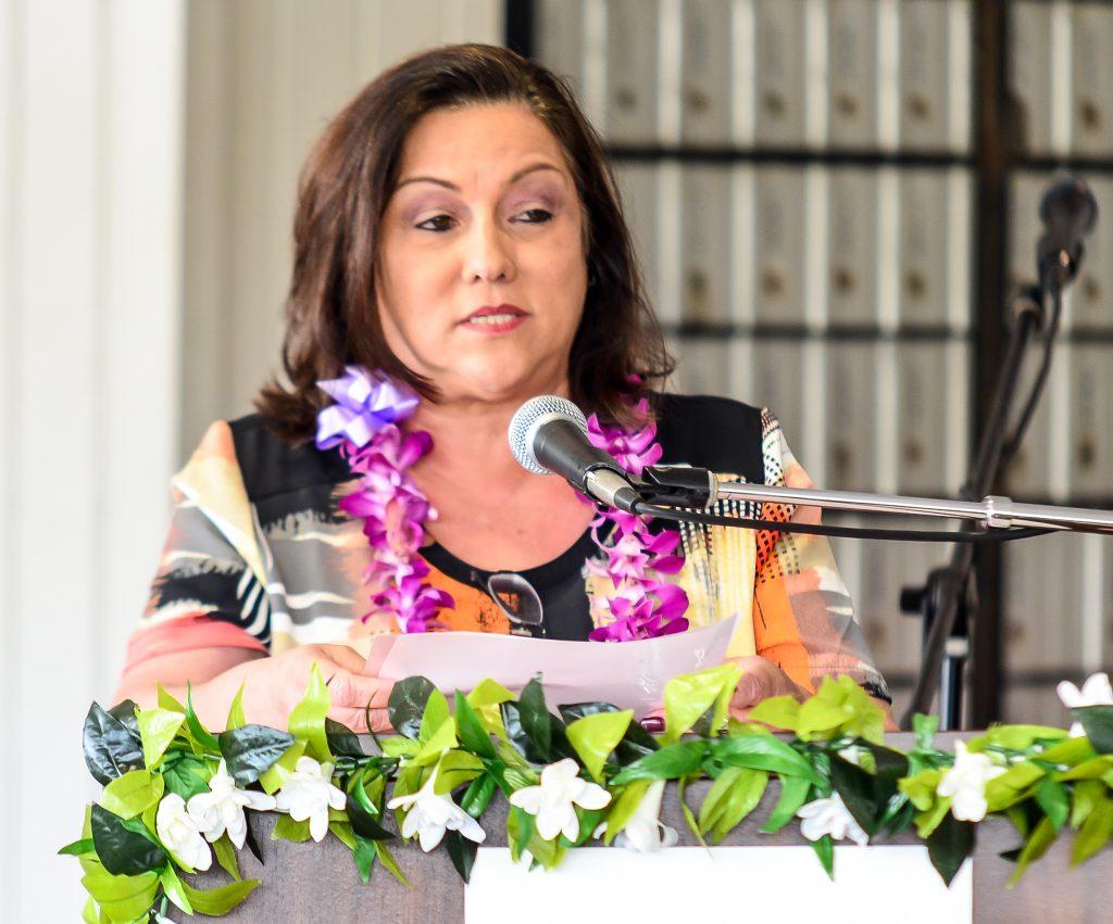 Makawao Postmaster Celine Balthazar-Suda shared three generations