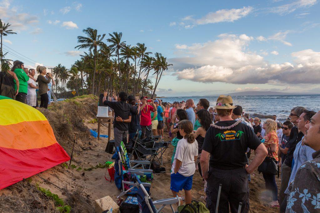 Orlando vigil on Maui (6.13.16) Photo credit: Llevellyn Lightsey.