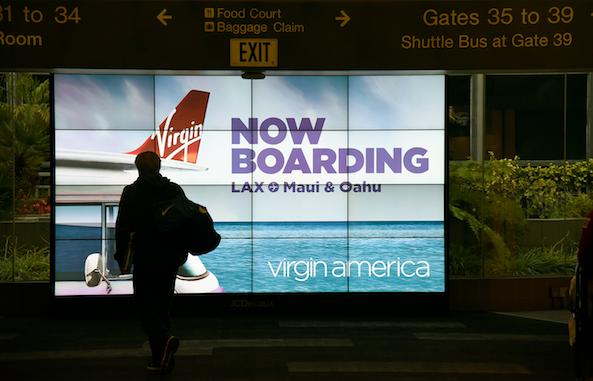 Virgin America graphic.