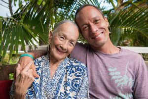 Chef Ed Kenney with his mother Beverly Noa. Courtesy photo.