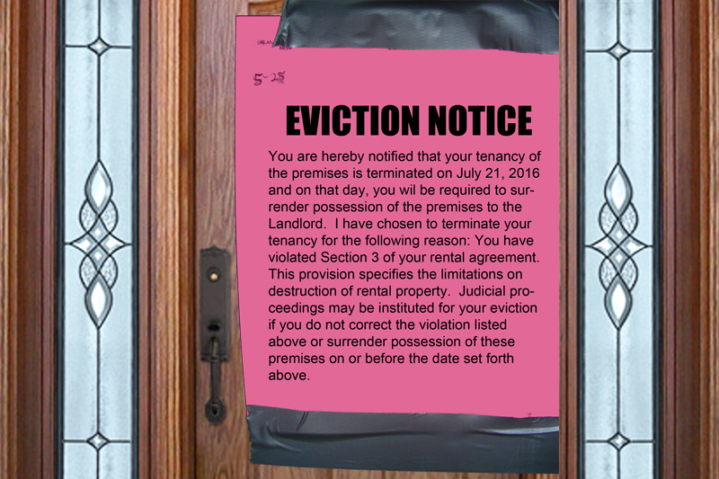 Eviction notice. Maui Now graphic.