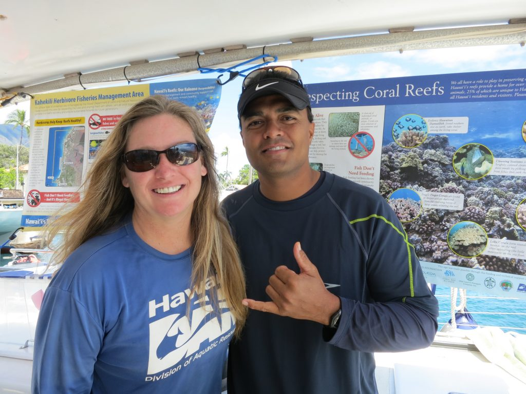 """Boatload of Decision Makers"" Reveals Plight of West Maui Reefs. Photo credit: DLNR."