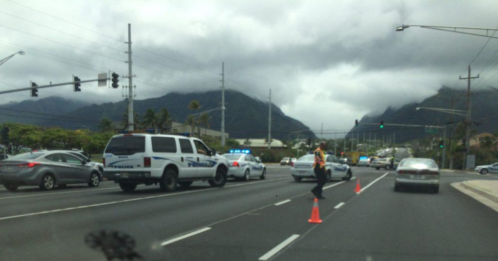 Kaʻahumanu Avenue traffic accident (6.2.16) Photo credit: Susan Miller.