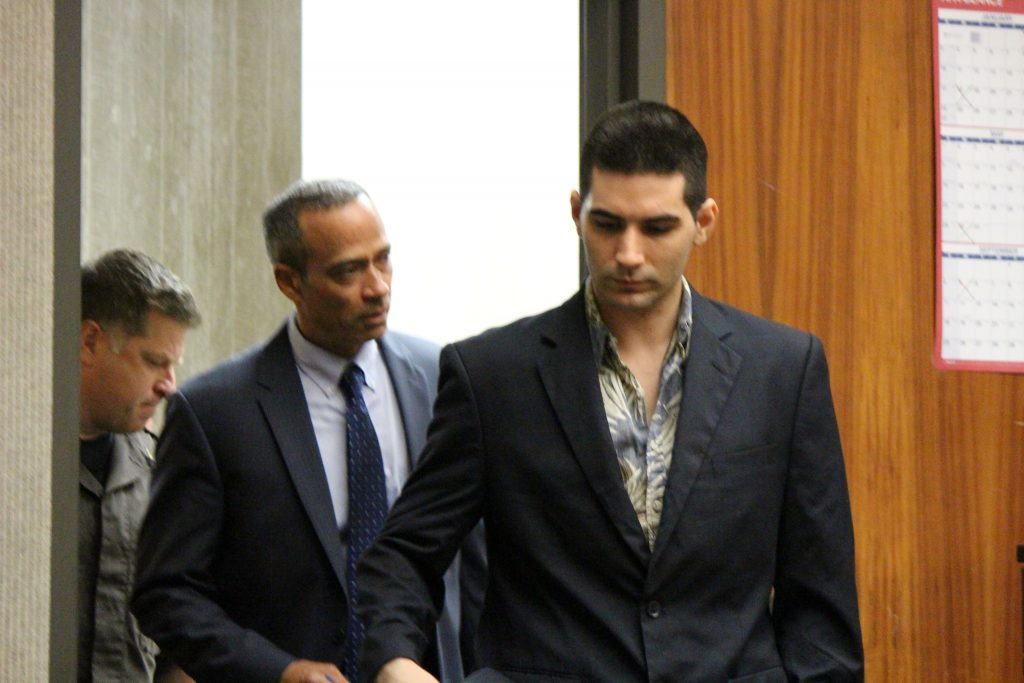 Steven Capobianco entering the courtroom (6.27.16) Photo by Wendy Osher.
