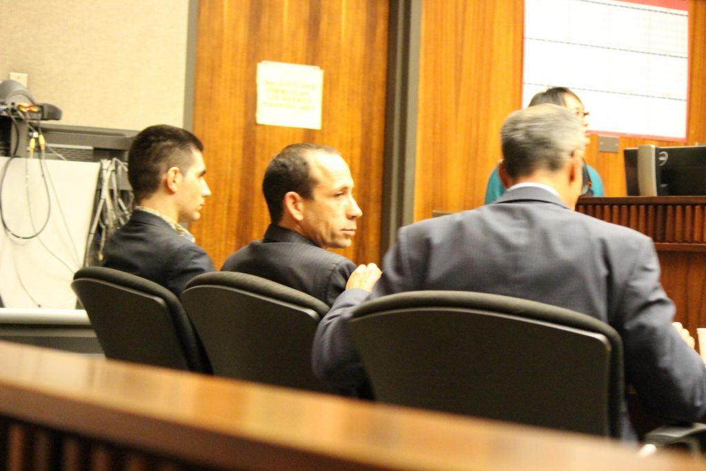 Steven Capobianco alongside his defense team (6.27.16) Photo by Wendy Osher.