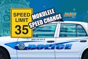 Mokulele Temporary Speed reduction. Maui Now graphic.