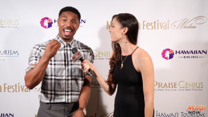 "Malika interviews ""Rainmaker"" Award recipient, Michael B. Jordan at Maui Film Festival"