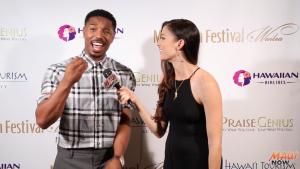 "Malika interviews ""Rainmaker"" Award recipient, Michael B. Jordan at Maui Film Festival"