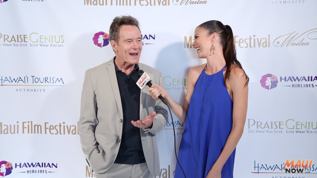 Malika intervies Bryan Cranston at Maui Film Festival 2016