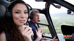 Malika Dudley and Tim Perry explore Maui's Hidden Hikes on a Blue Hawaiian Helicopters flight