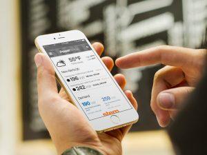 Stem PowerScope-Alerts on an iPhone. Stem photo.
